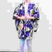 Deep Purple Short Kimono