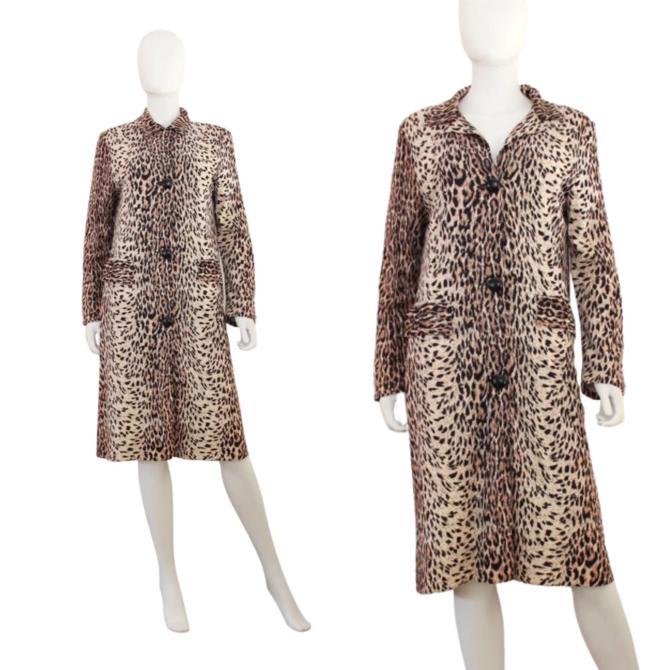 1960s Leopard Print Rain Coat - Vintage David Smith Rain-Paka Traveler Coat - Vintage Leopard Print Coat - Vintage Rain Coat   Size Small by VeraciousVintageCo