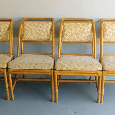 Vintage Ficks Reed Rattan Dining Chairs - Set of 4 by ModandOzzie
