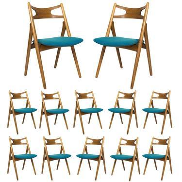 Set of 12 Hans Wegner CH 29 Dining Chairs
