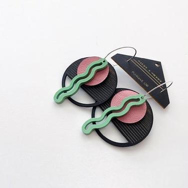 Seafoam Squiggle Earrings