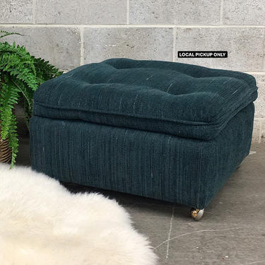 LOCAL PICKUP ONLY ———— Vintage Rolling Ottoman by RetrospectVintage215