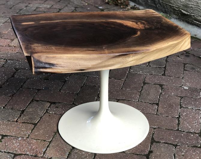 Live Edge Black Walnut End Table