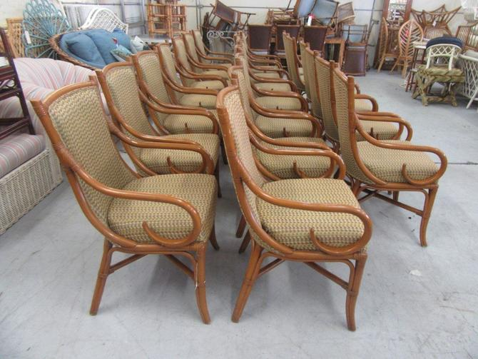 20 Upholstered Bamboo Arm Chairs