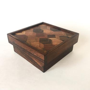 Mid Century Don Shoemaker Exotic Wood Parquetry Box - Mexican Modern by SabineVintageHome