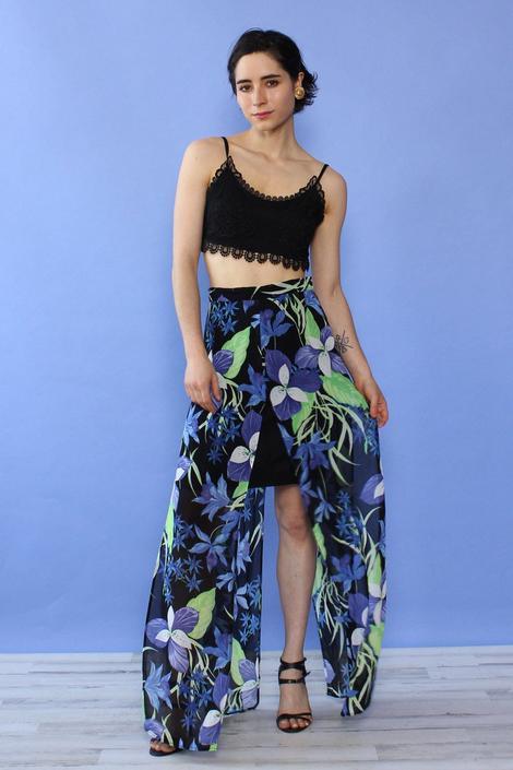 Layered Slit Skirt XS