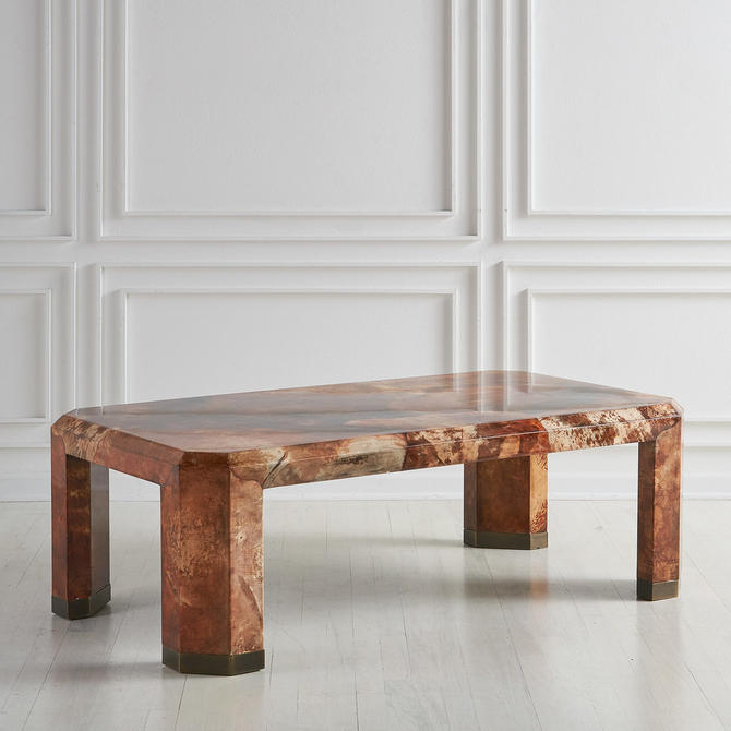 Lacquered Goat Skin Coffee Table