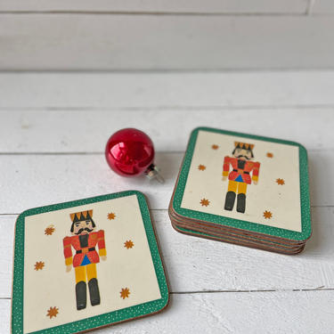 Vintage Nutcracker Coasters, Christmas Coasters, Set of 6 // Christmas Party Coasters, Nutcracker Christmas Decor // Perfect Gift by CuriouslyCuratedShop