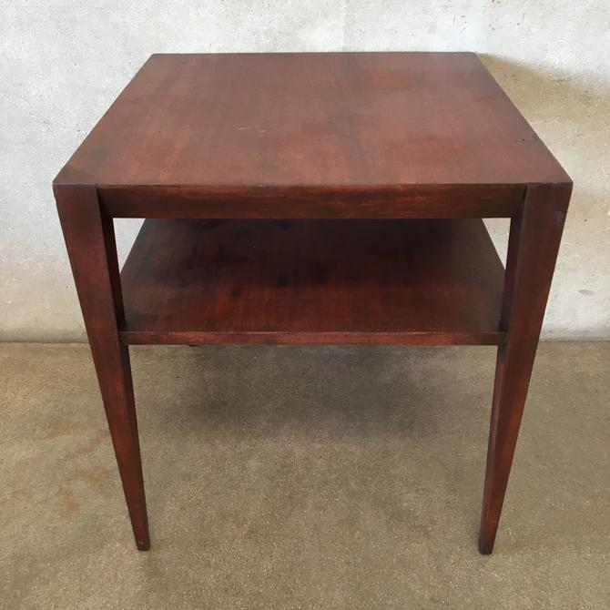 MCM Square Two Level Side Table