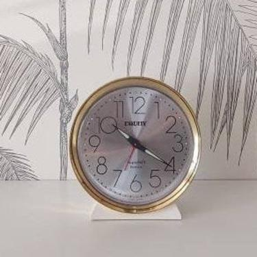 """Vintage Desk Clock, Alarm, working condition, Equity, """"Superbell"""", circa 80's by colortheoryBoston"""