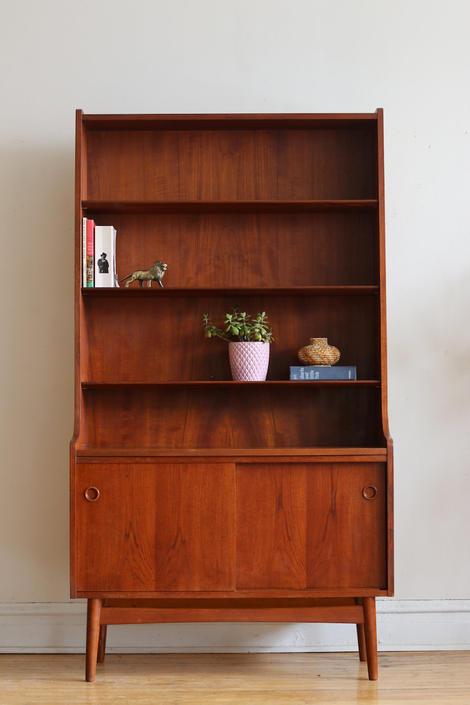 Mid Century Danish Modern Johannes Sorth Bookshelf by SharkGravy