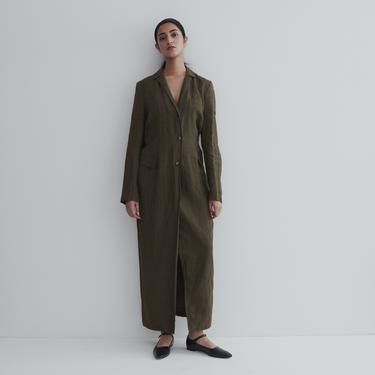 Jil Sander Olive Linen Dress