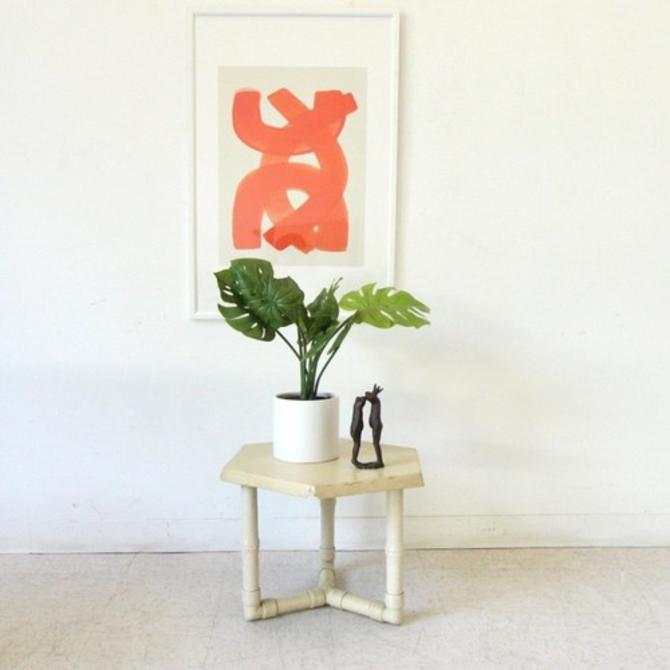 Vintage Hexagon Outdoor Side Table