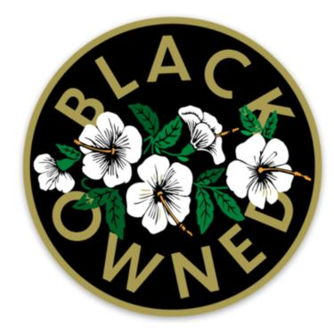 Black Owned Sticker
