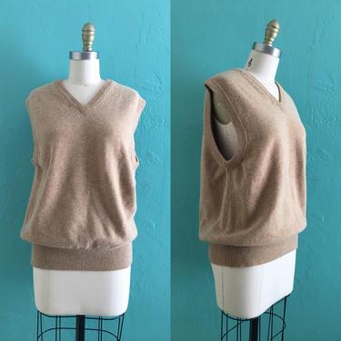 vintage 90's wool sweater vest // lord & taylor wool vest by HarlowsVintage