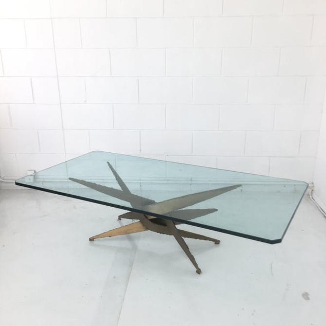 1970s Brutalist Torch Cut Coffee Table by VintageOnPoint