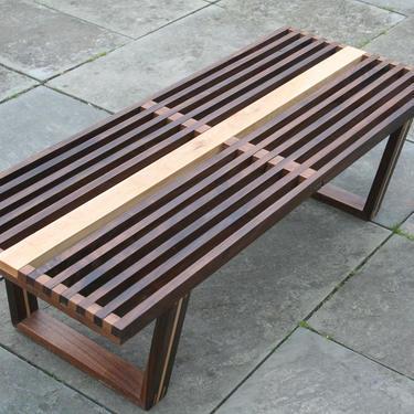 Mid-century Modern Slat Bench by AvocationHardwoods