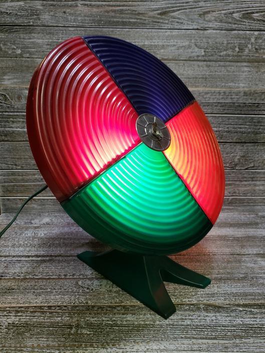Color Wheel For Christmas Tree.Vintage Color Wheel Aluminum Silver Christmas Tree Rotating