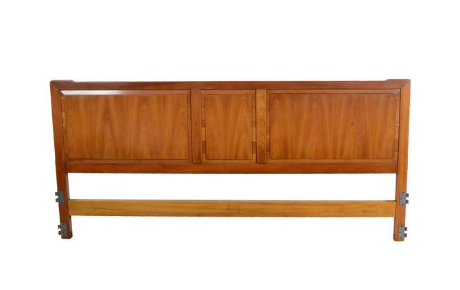 King Size Cherry Headboard by John Widdicomb Mid Century Modern by HearthsideHome