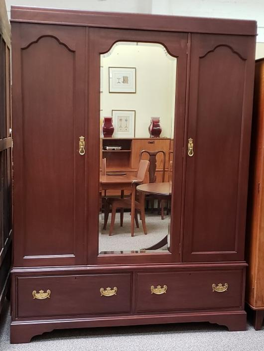 Item #MC1 Edwardian Mahogany Compactum Armoire c.1910