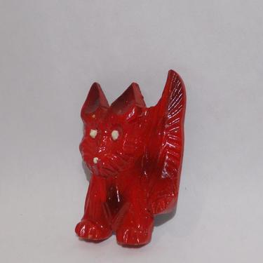 Vintage 1940's Hand-carved Whimsical Dog Pin/Brooch by estateoriginals