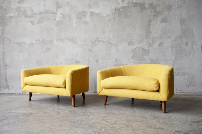 Pair of Adrian Pearsall 'Cloud' Chairs by FandFVintage