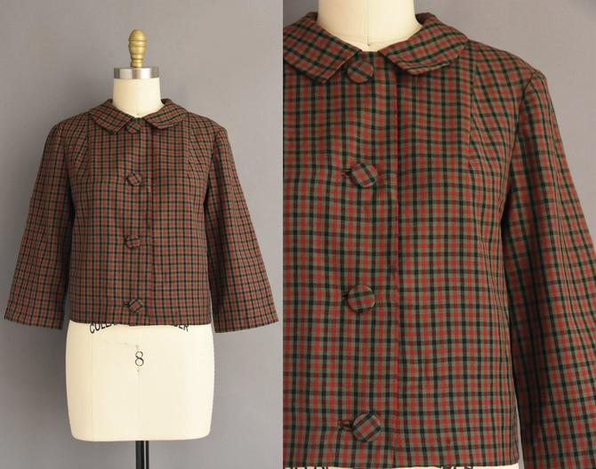 1960s vintage dress | Pendleton Plaid Jacket | Medium Large | 60s dress by simplicityisbliss