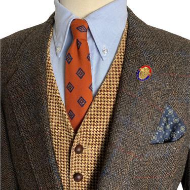 Vintage 100% WOOL TWEED Blazer ~ 42 to 44 R ~ Herringbone ~ jacket / sport coat ~ Preppy / Ivy League / Trad ~ Stafford British Collection by SparrowsAndWolves