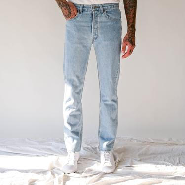 Vintage 80s LEVIS 501 Light Wash Button Fly Jeans w/ Unworn Tags |  Made in USA | Size 31x34 | 1980s Levis High Waisted Unisex Denim Pants by TheVault1969