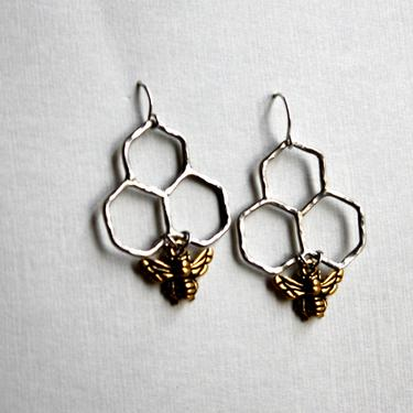 07dfd3bc7 Ready to Ship- Sweet Dangles- Sterling silver handmade honeycomb dangles by  RachelPfefferDesigns