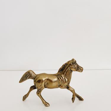 BRASS <BR> RUNNING HORSE