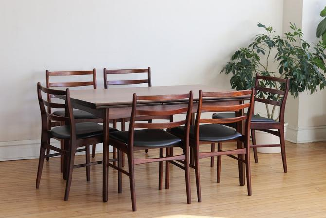 Mid Century Danish Modern Rosewood Dining Set by SharkGravy