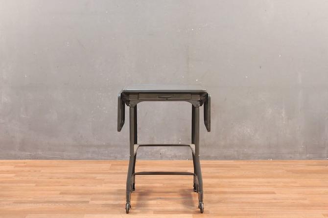 Industrial Steel 1-Drawer Typewriter Table
