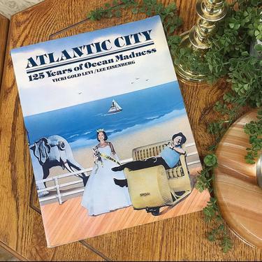 Vintage Atlantic City Book Retro 1970s 125 Years of Ocean Madness + New Jersey + Beach + Softback + Black + White + Photographs + Home Decor by RetrospectVintage215