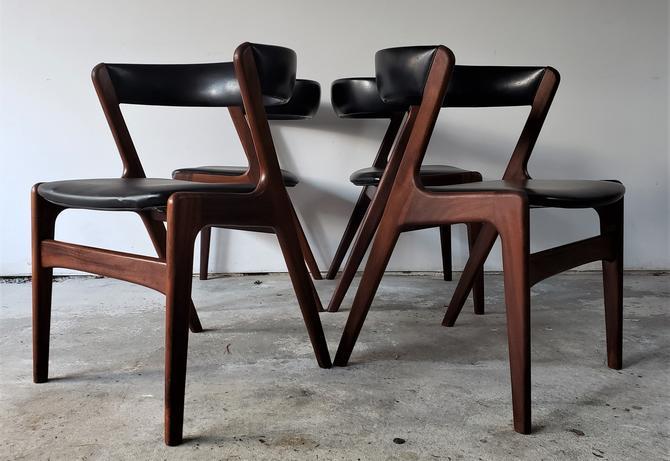 Kai Kristiansen Teak Dining Chairs S/4 by WrightFindsinMCM