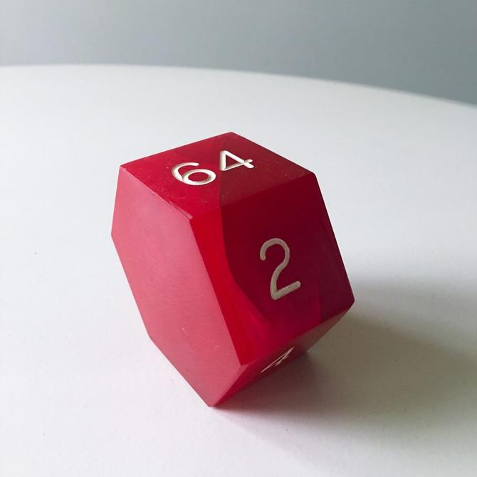 Large Chunk of Bakelite Octagon Double for Backgammon Red by CaribeCasualShop