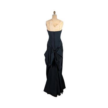 night n'gaile   vintage 1980s victor costa gown   vtg 80s designer dress   small/medium   s/m   4/6/8 by danevintage