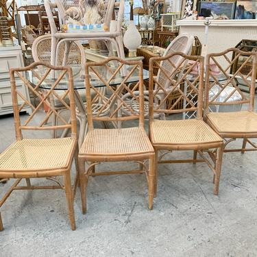 Pair of Faux Bamboo and Cane Chairs