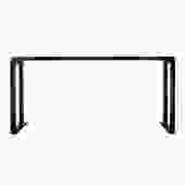 Oriental Distressed Long Semi - Gloss Black Scroll Altar Console Table cs5438S