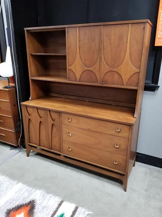 Mid-Century Modern wall unit from the Brasilia collection by Broyhill