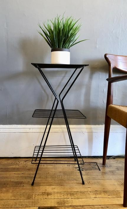 Vintage Plant Stand \/ Side Table