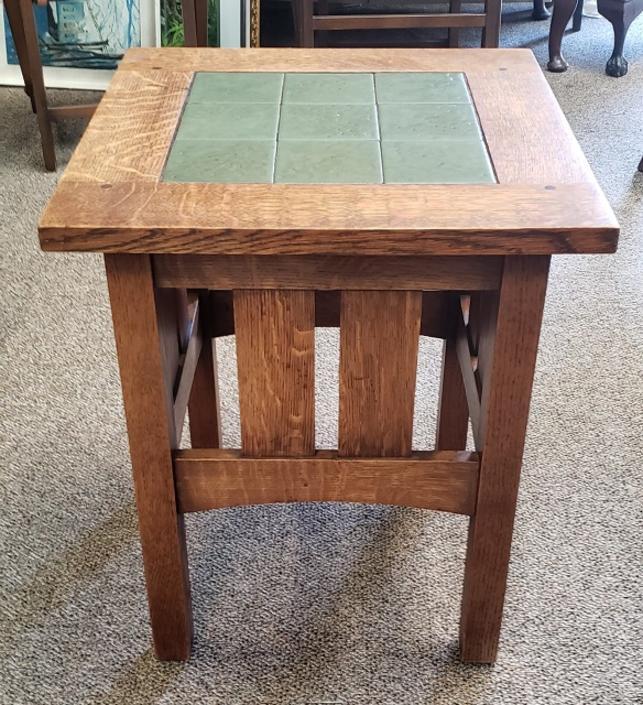 Item #KS15 Mission Oak Arts & Crafts Side Table by Hile Studio