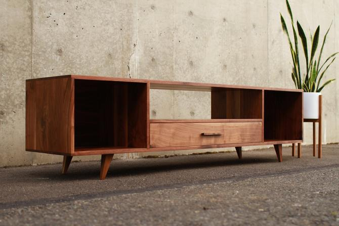 Bakewell Vinyl Console, Credenza, Vinyl Storage, Media Storage (Shown in Walnut) by TomfooleryWood