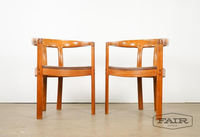 Danish Teak Barrel Back Chairs