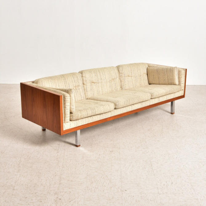 Milo Baughman Walnut Vintage Sofa From