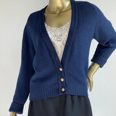 Navy Blue Wool Cardigan fits XS - M Pendleton by BeggarsBanquet
