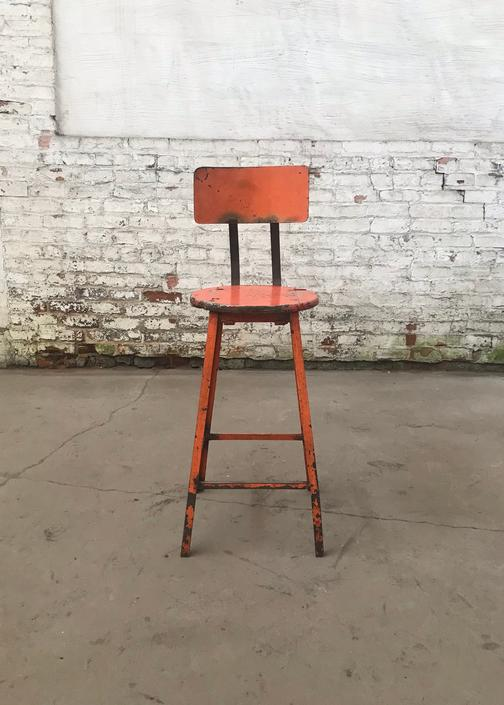 Vintage Factory Salvaged Industrial Machinists Stool 'The Rockford Stool' by NorthGroveAntiques