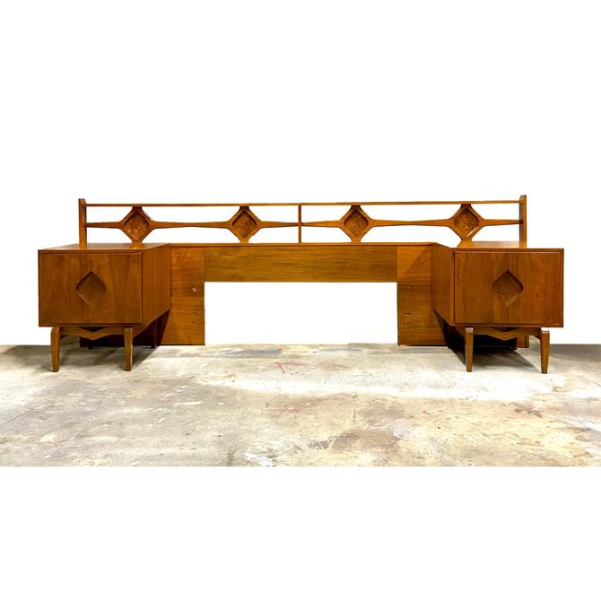 Headboard / Nightstand Set - Mid Century