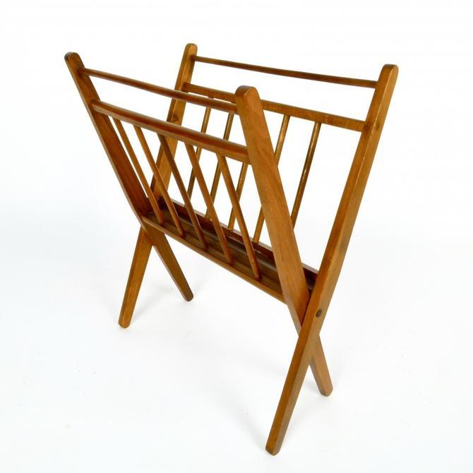 Folding Beechwood Magazine Rack