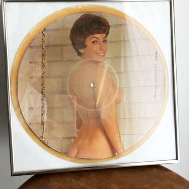 Vintage Pinup Girl PICTURE DISC Vinyl Record Album 1950's, 1960's Mid Century Nude, Tom Jones Music Green Grass LP Music Wall Picture Frame by Boutique369